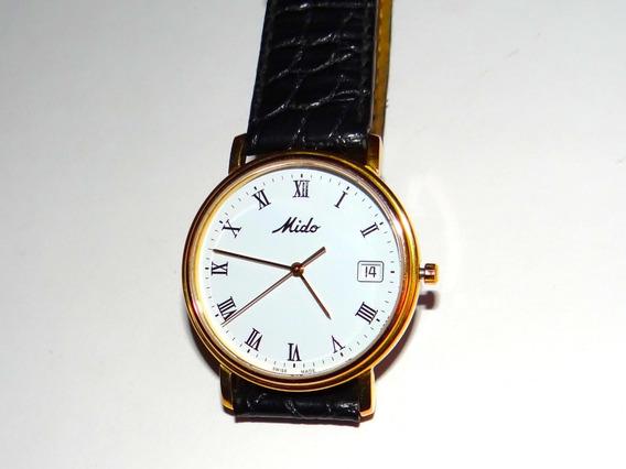 Reloj Mido 1918 Dorado Pulso Piel Original