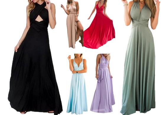 Vestido De Noche Largo Sin Espalda Para La Señora S-xl
