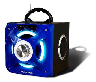 Parlante Portatil Recargable Usb Bluetooth Cubo Hi Fi 30w