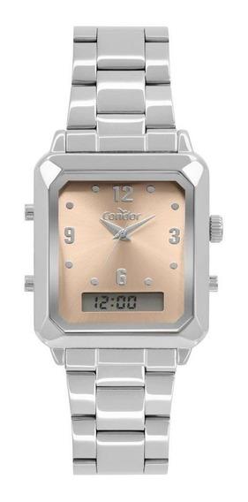 Relógio Condor Cobj3718ac/4m Fashion Feminino Prata Anadigi