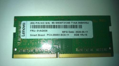 Memoria Ram  4gb Ddr4 Pc4-2666v-sc0-11 1rx16 Lenovo