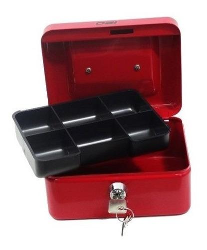 Caja De Dinero Sencilla 15cm Color Azul O Rojo Para Monedas