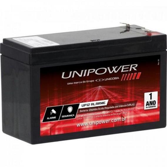 Bateria Para Alarme Cftv Cerca Elétrica 12v 4a Up12 Unipower