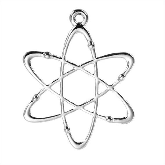 Colar Pingente Mandala Meditação Átomo Quantico Vortice