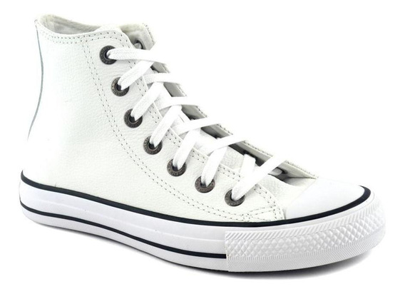 Zapatilla Converse Unisex Chuck Taylor Hi Leather Blanco