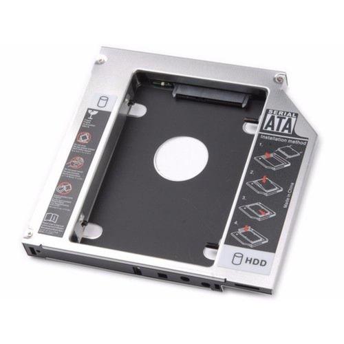 Imagem 1 de 4 de Adaptador Caddy Dvd Sata Para Hd Ssd Notebook Drive 9.5mm