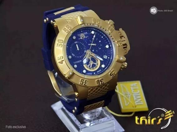 Relogio Invicta Cxz8547 Subaqua 15800 Ouro 18k Original