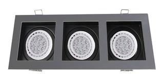 Spot Plafon Cardanico Embutir 3 Luces Apto Ar111 Gu10