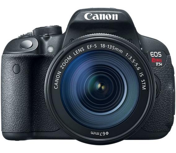 Canon T5i 18-135mm + Cartão Sd 64gb