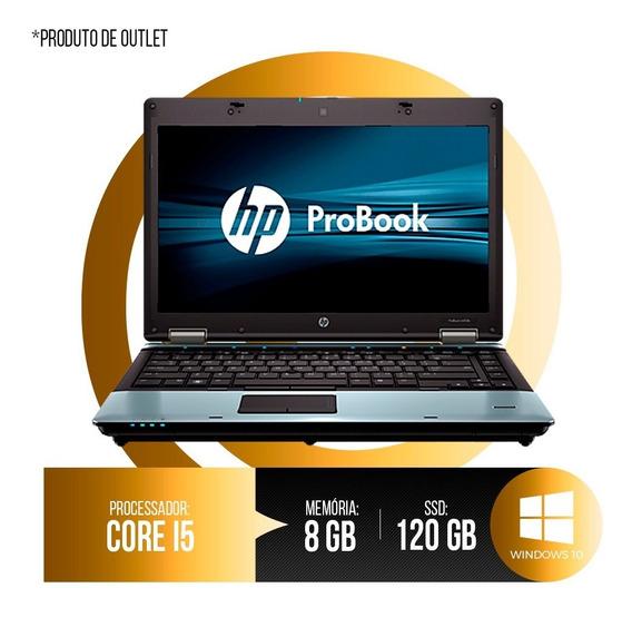 Notebook Hp Probook Intel Core I5, 8gb Ddr3, Hd Ssd 120gb 1ª