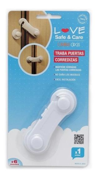Traba Puerta Corrediza Love 8852 Seguridad Bebe By Creciendo