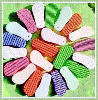 1000 Chaveiros Chinelos Chinelinhos P/ Sublimação Coloridos