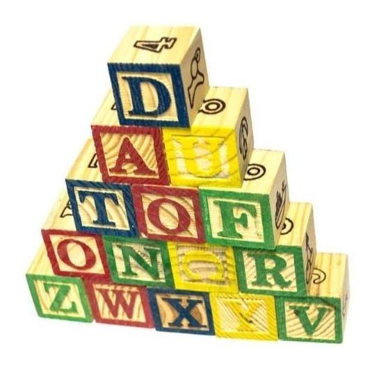 Cubos De Madera - Letras O Números - Didáctico
