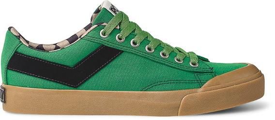 Zapatillas Pony Vintag. Slamdunk Ox Canvas Verde - Po231030