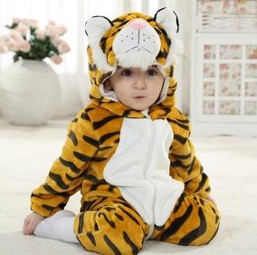 Macacão Infantil Pelúcia Tigre Importado)