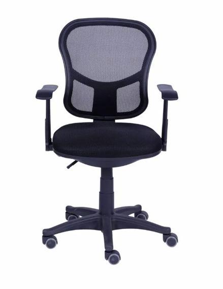 2 Cadeiras De Escritório Giratória Preta Or-3309 Or Design