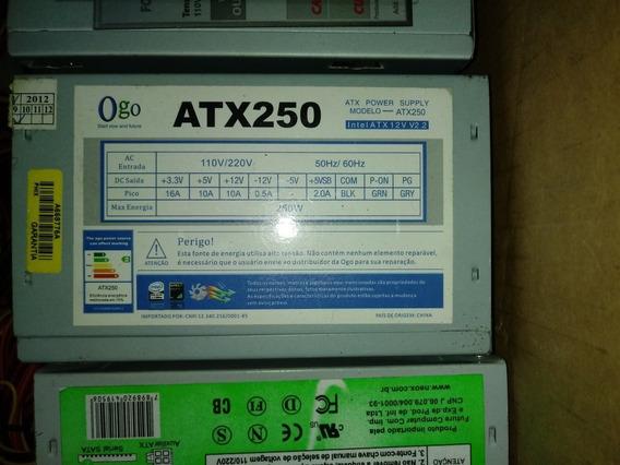 Fonte Atx 24 Pinos Com Sata 250w Nominal
