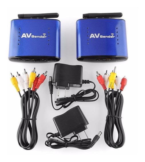 Av Sender Transmissor E Receptor De Áudio Vídeo Wireless 5.8