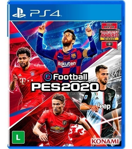 Jogo Pes 2020 Pro Evolution Soccer 2020 Ps4 Playstation 4
