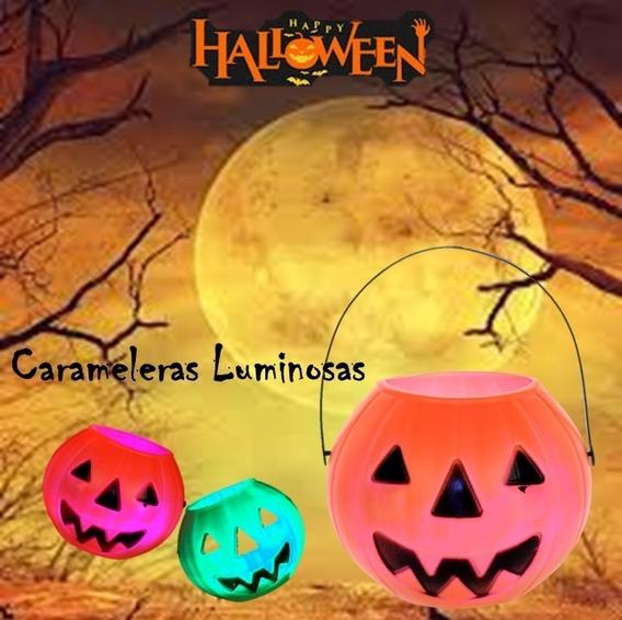 Calabaza Halloween Led Luminosa Candy - Halloween Cotillon