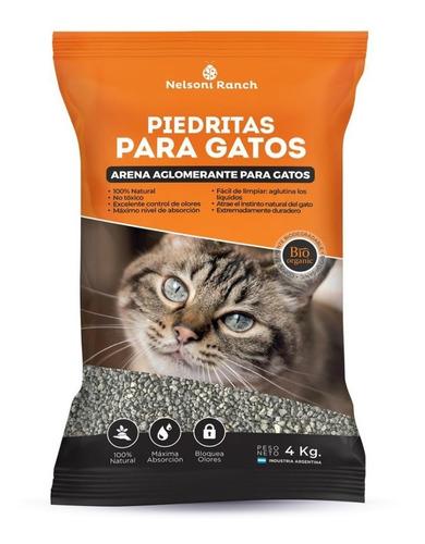Piedras Sanitarias P/ Gato Aglomerante Control De Olores 4kg