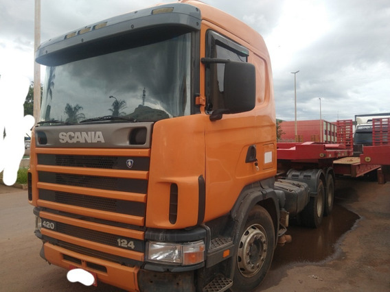 Scania R 124 420/01 Laranja 6x4