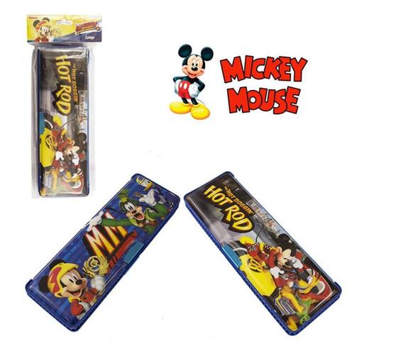 Estojo Escolar Retangular Com Duas Divisórias Mickey
