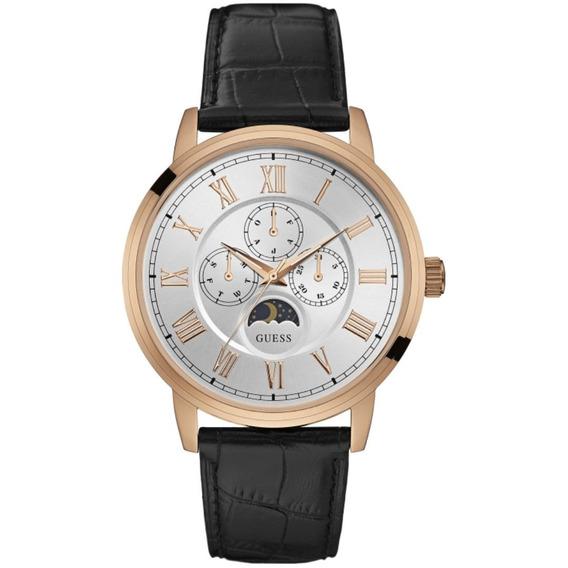 Relógio Masculino Guess 92617gpgdrc2 Multifunção Couro Preto