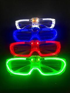10 Unidades Óculos De Led Pisca Cores Sortidas Neon Rave