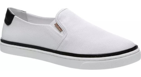 Tênis Anacapri Paula Colors Slip On - Branco/preto