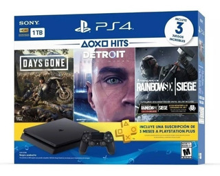 Playstation 4 Slim Hits 1tb Con 3 Juegos - Bundle Edition