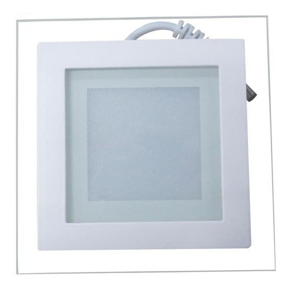 Luminária Plafon Led 16w De Vidro Embutir Redonda / Quadrada