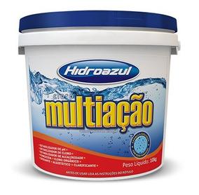 Cloro Piscina Hidroazul Multiação 10kg 8 Em 1 Super Eficaz