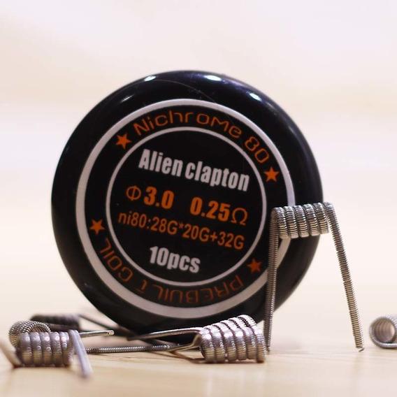 Kit C/10 Resistencias Prontas Alien Clapton 0.25ohm Coil Ni8