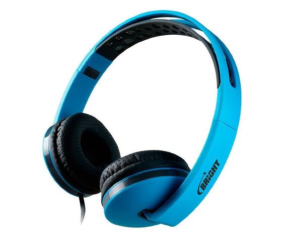 Headphone Bright Colors Azul Com Nota Fiscal