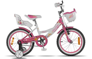 Bicicleta Aurorita Princesa R16 Canasto Ruedita 5908 Cuotas