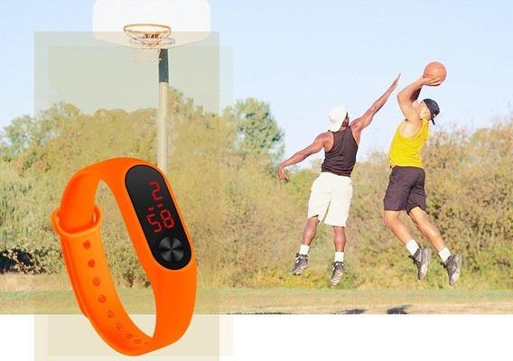Relógio Digital Esportivo Bracelete Led Masculino Feminino Q