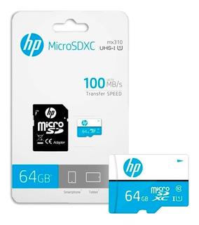 Tarjeta Micro Sd 64gb 64 Clase 10 Memoria Hp Sd Cl10