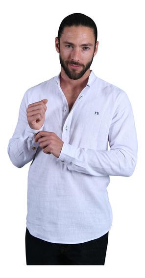 Poleras Para Hombre O Mujer Porto Blanco Cuello Mao De-1203