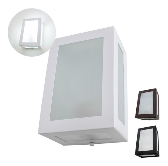 14x Arandela 5 Vidros Alumínio Uso Externo E Interno Ms632