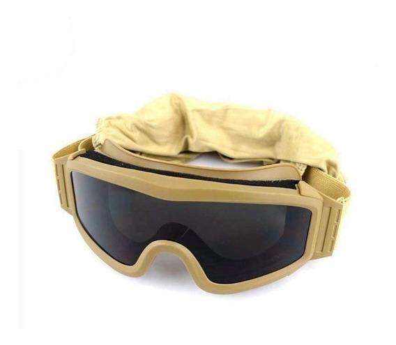 Goggles Militar Tacticos Policarbonato 3 Micas Alto Impacto