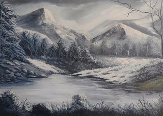 Quadro Pintura Óleo Em Tela Painel 50x70 Cm. Obra: Simples