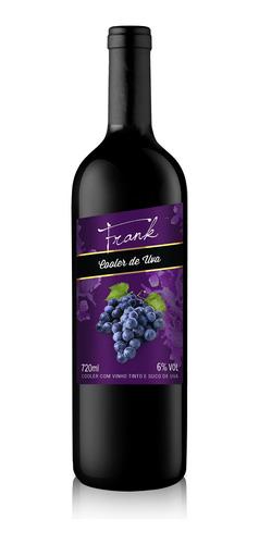Cooler De Vinho Tinto Com Suco De Uva 720ml - Frank