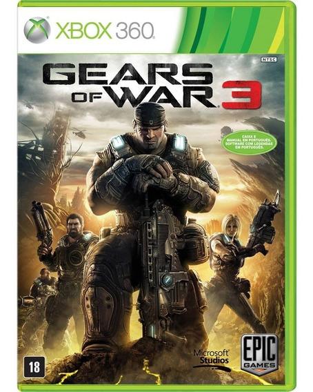 Jogo Gears Of War 3 Xbox 360 E Xbox One Mídia Física Lacrado