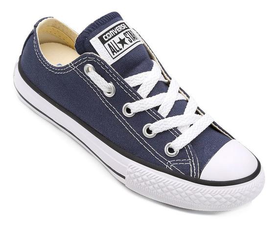 Tenis All Star Converse Infantil Lona Azul Original + Nf