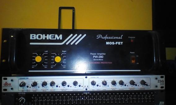 Power Bohem 600w Y Amplificador Technics 200 W Baratos