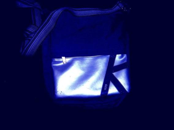 Bolso / Morral Largo Azul Oscuro De Kio Para Chicas