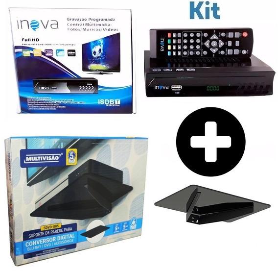 Conversor Digital Inova + Suporte P/ Conversor Multivisão