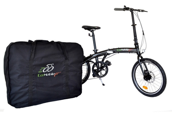 Bicicleta Plegable Aluminio Ecomobilefit R20 Frenos Disco 7v