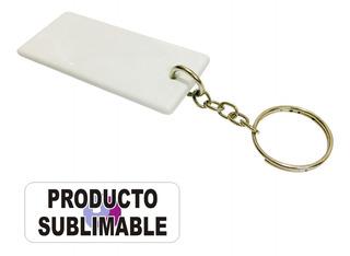 Llaveros Para Sublimar De Polimero Blanco 7x3cm Rectangulares - Pack 20 Unidades
